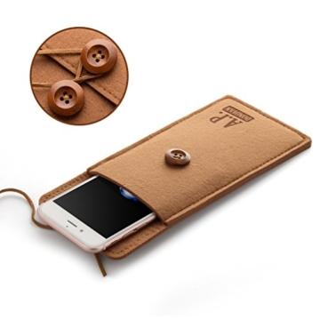 A.P. Donovan - Filz-Tasche Filzhülle - Schutzhülle - Handy-Socke aus Filz - Hülle Tasche aus Stoff Sleeve - Grau iPhone X/XS - 2