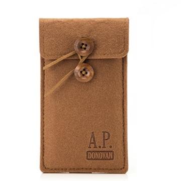 A.P. Donovan - Filz-Tasche Filzhülle - Schutzhülle - Handy-Socke aus Filz - Hülle Tasche aus Stoff Sleeve - Grau iPhone X/XS - 3