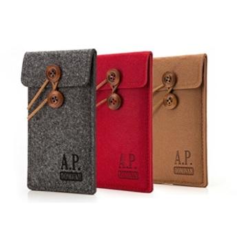 A.P. Donovan - Filz-Tasche Filzhülle - Schutzhülle - Handy-Socke aus Filz - Hülle Tasche aus Stoff Sleeve - Grau iPhone X/XS - 4
