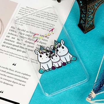 A7 Handyhülle Samsung Galaxy A7 2018 Hülle Case Cover Silikon Transparent Tasche Durchsichtige Schutzhülle Handytasche Skin Softcase Schale Bumper Handycover Rückhülle Mädchen Handtasche-Einhorn 3 - 7