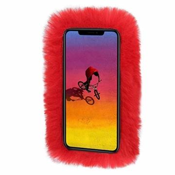 Bibao Schutzhülle für iPhone XS Max Max/XR 16,5/14,8/15,6 cm (6,5/15 Zoll), Plüsch - 3