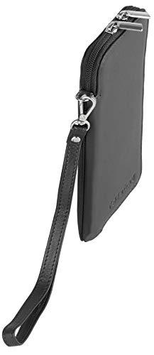 felderberg Handytasche aus feinstem Echt-Leder mit Reißverschluss und Handschlaufe, für die meisten 5 Zoll (max. 5,8 Zoll) Smartphones geeignet (Schwarz/Modell 2018) - 4