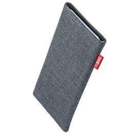 fitBAG Jive Grau Handytasche Tasche aus Textil-Stoff mit Microfaserinnenfutter für Apple iPhone 6 Plus / 6S Plus / 7 Plus (5,5 Zoll) | Hülle mit Reinigungsfunktion | Made in Germany - 1