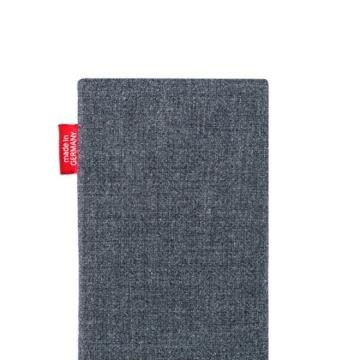 fitBAG Jive Grau Handytasche Tasche aus Textil-Stoff mit Microfaserinnenfutter für Apple iPhone 6 Plus / 6S Plus / 7 Plus (5,5 Zoll) | Hülle mit Reinigungsfunktion | Made in Germany - 5
