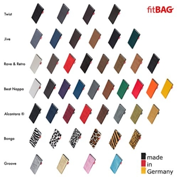 fitBAG Jive Grau Handytasche Tasche aus Textil-Stoff mit Microfaserinnenfutter für Apple iPhone 6 Plus / 6S Plus / 7 Plus (5,5 Zoll) | Hülle mit Reinigungsfunktion | Made in Germany - 6