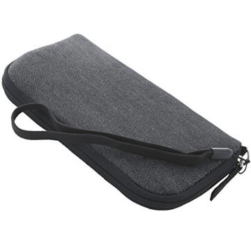 Handyhülle mit Handschlaufe 7.2 - universal Größe 2XL für Huawei P9 P10 P20 Lite Honor 9 10 / Motorola Moto G5 - Handytasche schwarz/grau - 3