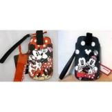 Handysocke Disney Minnie 8x 13cm gepunktet 2Farben Rot und Grau - 1