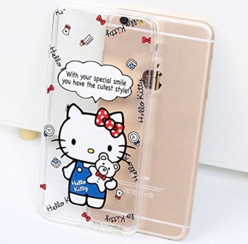 Hello Kitty iPhone 6 (4.7 Zoll) Handy Cover Schutzhülle Handyhülle Cover Schutzhülle Handy Cover (Model 8) - 3