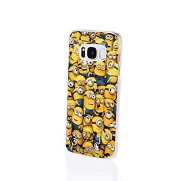 Hülle für Samsung Galaxy S8 Plus - Minions Handyhülle mit Motiv und Optimalen Schutz Tasche Case Hardcase Cover Schutzhülle - Minions Menge - 2