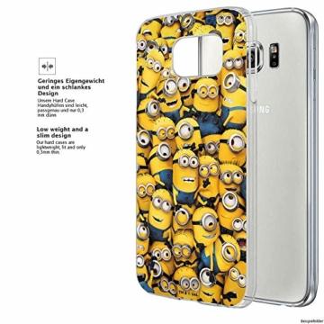 Hülle für Samsung Galaxy S8 Plus - Minions Handyhülle mit Motiv und Optimalen Schutz Tasche Case Hardcase Cover Schutzhülle - Minions Menge - 3