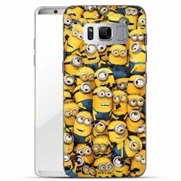 Hülle für Samsung Galaxy S8 Plus - Minions Handyhülle mit Motiv und Optimalen Schutz Tasche Case Hardcase Cover Schutzhülle - Minions Menge - 1