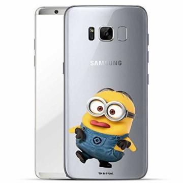 Hülle für Samsung Galaxy S8 Plus - Minions Handyhülle mit Motiv und Optimalen Schutz Tasche Case Hardcase Cover Schutzhülle - Kleiner Spott - 1