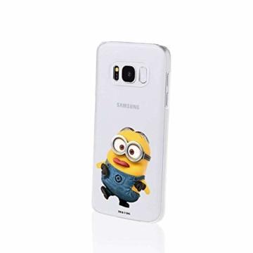 Hülle für Samsung Galaxy S8 Plus - Minions Handyhülle mit Motiv und Optimalen Schutz Tasche Case Hardcase Cover Schutzhülle - Kleiner Spott - 2