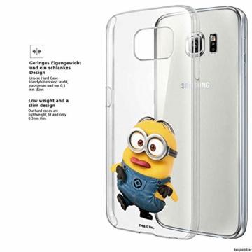 Hülle für Samsung Galaxy S8 Plus - Minions Handyhülle mit Motiv und Optimalen Schutz Tasche Case Hardcase Cover Schutzhülle - Kleiner Spott - 3
