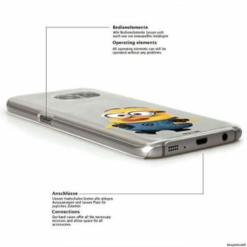 Hülle für Samsung Galaxy S8 Plus - Minions Handyhülle mit Motiv und Optimalen Schutz Tasche Case Hardcase Cover Schutzhülle - Kleiner Spott - 4