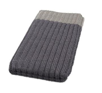 iPhone X Handysocke Strick-Tasche in grau Original smartec24® Rundumschutz dank dicker dicht gestrickter Wolle passt sich dank Strech perfekt dem jeweiligen Smartphone an - 2