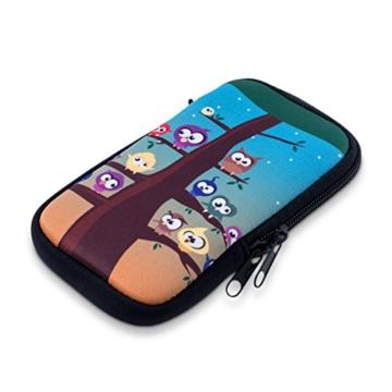 """kwmobile Handytasche für Smartphones M - 5,5"""" - Neopren Handy Tasche Hülle Cover Case Schutzhülle - 15,2 x 8,3 cm Innenmaße - 1"""