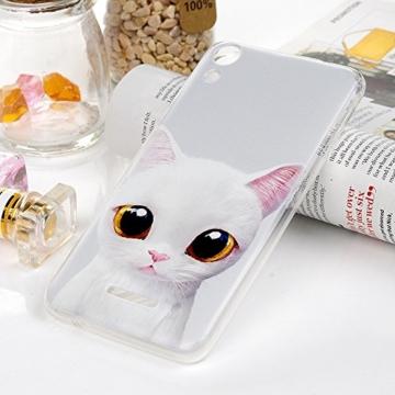 MAXFE.CO Handyhülle für WIKO Lenny 4 Hülle TPU Silikon Tasche Kätzchen Muster Weich Backcover Handytasche Dünn Etui Case - 8