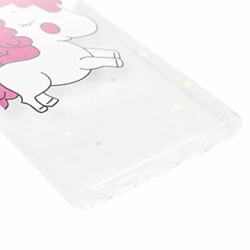 Note 9 Handyhülle Samsung Galaxy Note9 Hülle Case Cover Transparent Silikon Slim Tasche Durchsichtige Schutzhülle Handytasche Skin Softcase Schale Bumper Handycover*3 Rückhülle Mädchen-Einhorn - 9